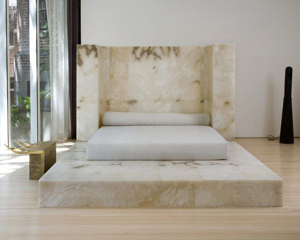 Lovely Alabaster Furnitures Bed