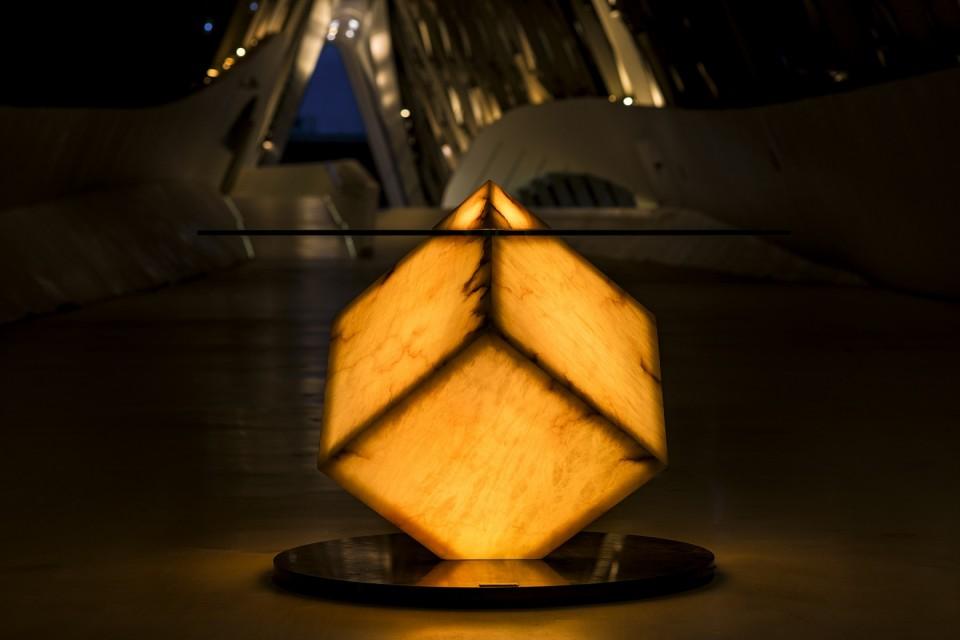 Alabaster table lamp