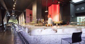 Alabaster bar.