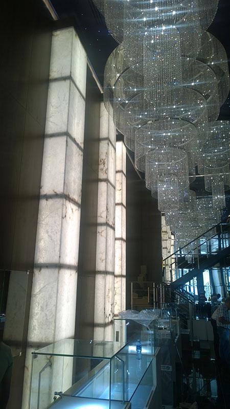 Alabaster columns backlited