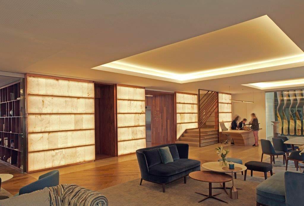 Alabaster panels arastone. Lasala Hotel